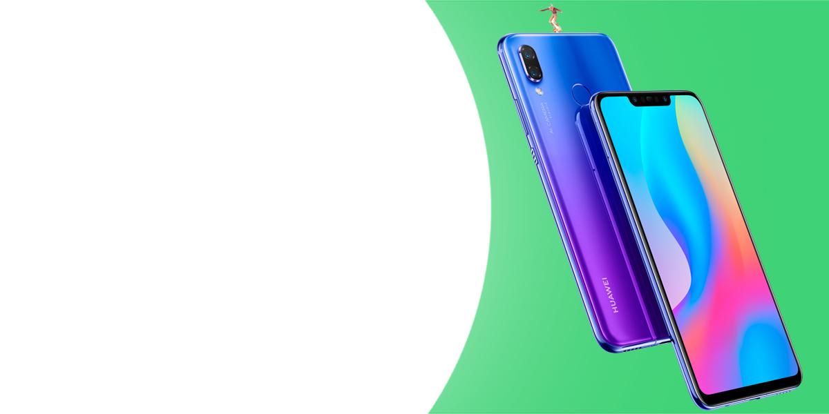 Huawei Nova 3 PAR-LX1 Dual Sim mobilní telefon, mobil, smartphone.