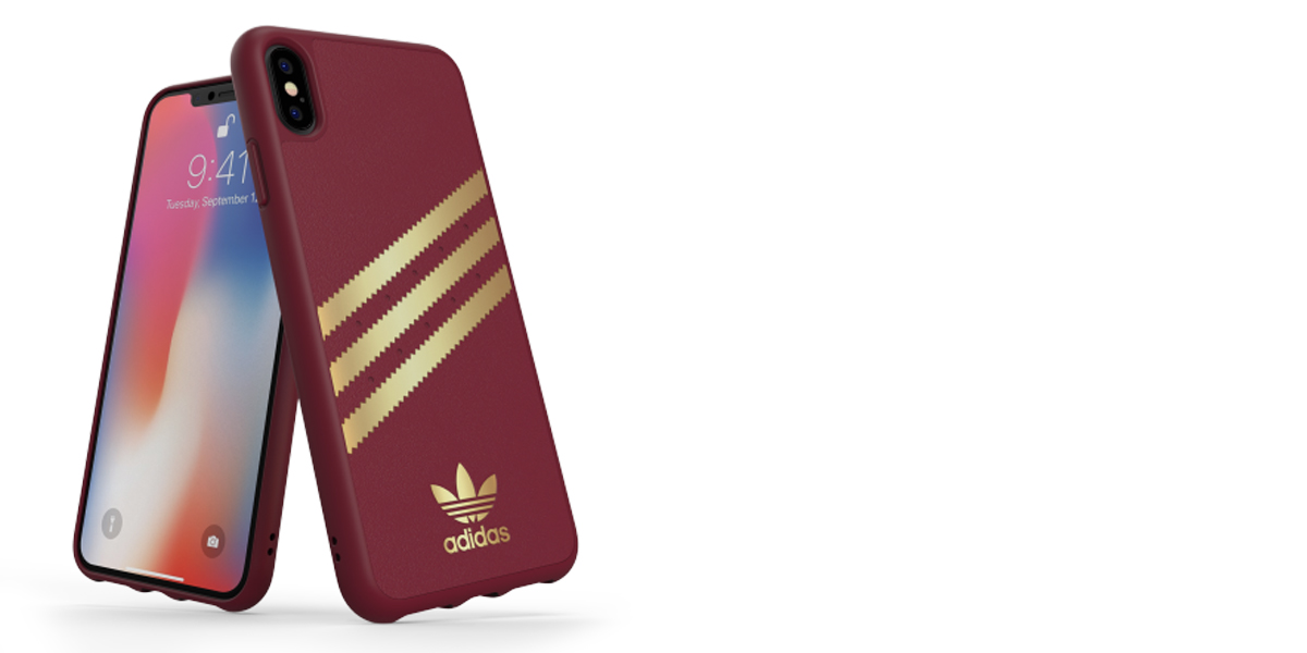 Adidas 3-Stripes Suede Snap Case ochranný kryt pro Apple iPhone XS Max (CL2351)