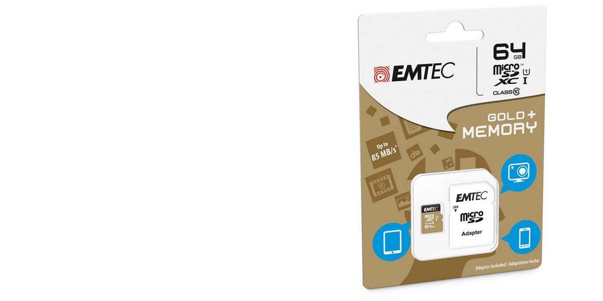 Emtec Microsdxc 64gb Gold Plus Class 10 U1 Pametova Karta A Sd